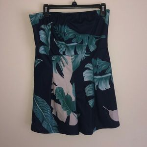 Tropical print sleeveless romper / play suit